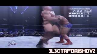 Brock Lesnar vs Kurt Angle HD Highlights Iron Man Match- SD! 18/09/03