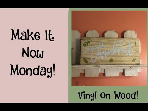 Cricut   Vinyl On Wood