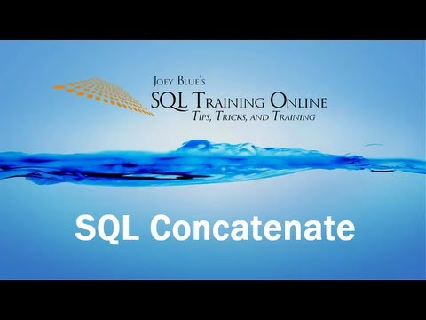 Sql Training Online - Sql Concatenate