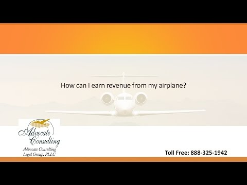 How can I earn revenue from my airplane?