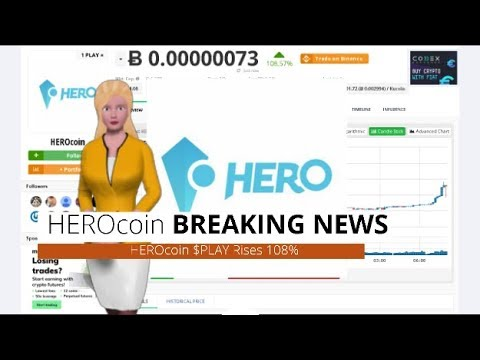 Cryptocurrency HEROcoin $PLAY Gains 108% During the Past Day 5