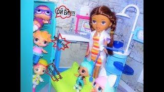 Куклы ЛОЛ школа. На прививку первый класс! Смешные мультики куклы ЛОЛ.