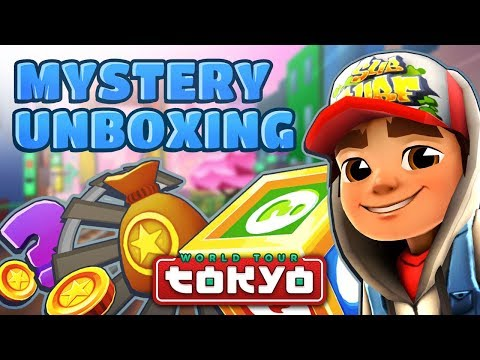 💰 Subway Surfers Mystery Unboxing - Opening Mystery Boxes in Tokyo