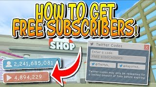HOW TO GET FREE SUBSCRIBERS IN ROBLOX FAME SIMULATOR!!