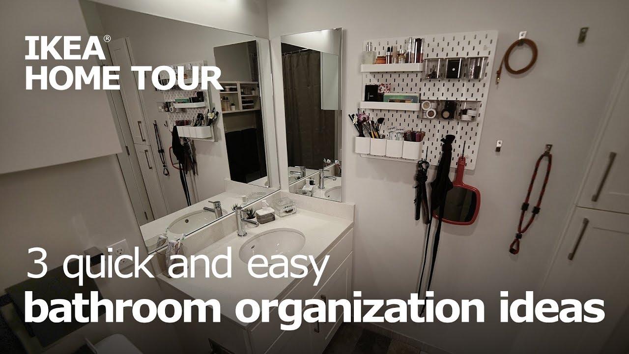 3 Easy Ways To Organize Your Bathroom Ikea Home Tour Youtube