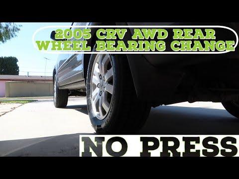 Removing Honda CRV 2005 AWD Rear Wheel Bearing