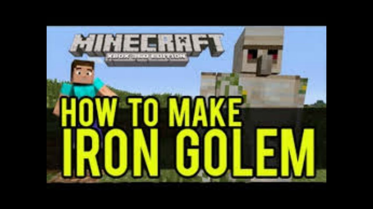 how to make an iron golem in minecraft