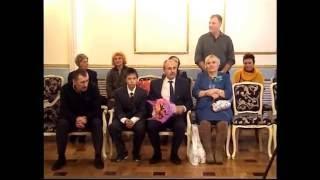 Бриллиантовая свадьба Ольги и Алексея Сильнова  ЗАГС Смоленск  Ч 4  Вальс