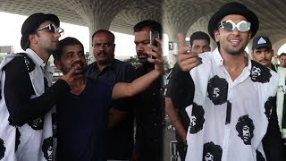 CRAZY Ranveer Singh Doing Full On Masti At Mumbai Airport