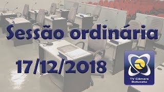 Sessão ordinária 17/12/2018 - Eleição Mesa Diretora 2019/2020