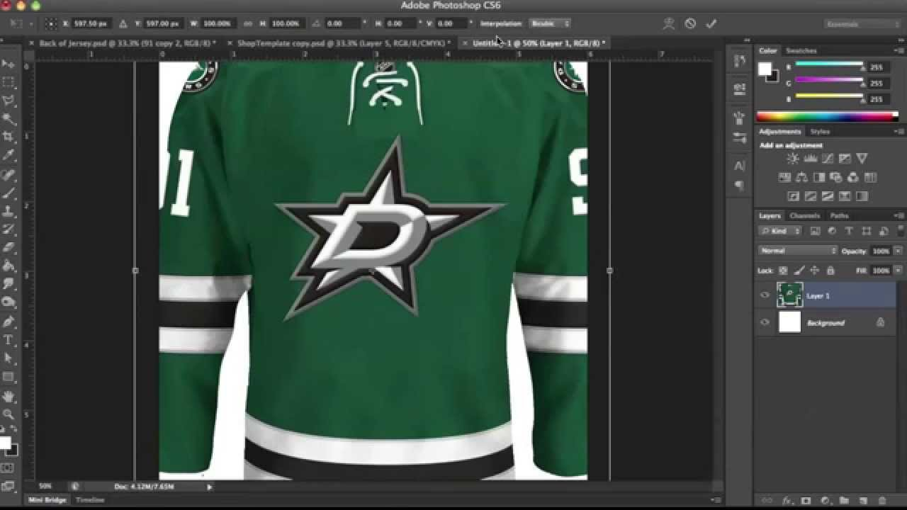 hockey jersey template tutorial part 3 youtube