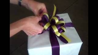 How To Make a Bow - Double Ribbon Bow