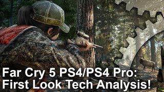 [4K] Far Cry 5 Tech Analysis + PS4/PS4 Pro Comparison + Performance First Look!