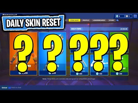 The NEW Daily Skin Items In Fortnite: Battle Royale! (Skin Reset #43)