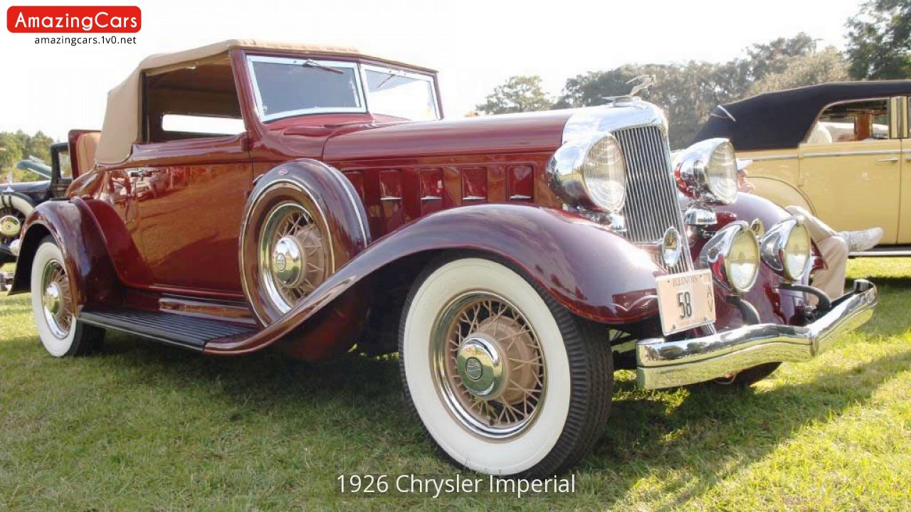 1926 Chrysler Imperial   YouTube