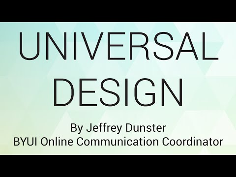 Universal Design - BYU-Idaho ACM Student Chapter Meeting 6/2/2016