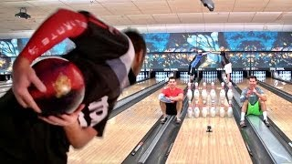 Bowling Trick Shots | Dude Perfect(Dude Perfect teams up w/ the World's #1 Bowler: Jason Belmonte ---------------------------------------- ▻ VISIT our NEW STORE! - http://dudeperfect.merchline.com ..., 2014-06-02T21:58:18.000Z)