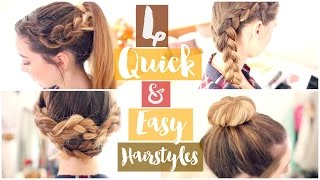 How To: 4 Quick & Easy Hairstyles | Zoella ad(4 Quick & Easy Hairstyles Previous Video: http://bit.ly/1P01jsQ This video is a paid for advertorial as part of my work with All Things Hair Second Channel: ..., 2015-09-27T19:49:11.000Z)