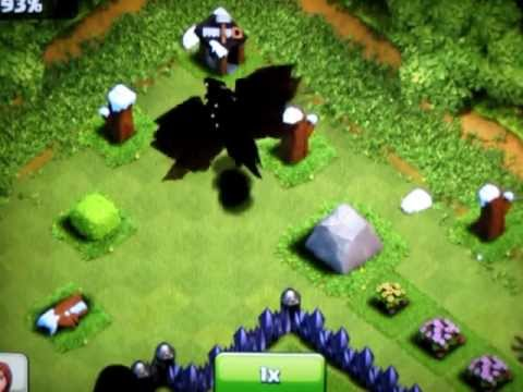 Attacked by 10 level 3 dragons (and a pekka and spells) - I barely ...