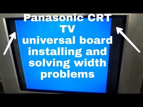 #Panasonic Tv Universal Board Fixing And Width Problem Solving