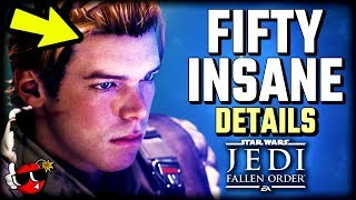 50 INSANE DETAILS in Star Wars Jedi Fallen Order