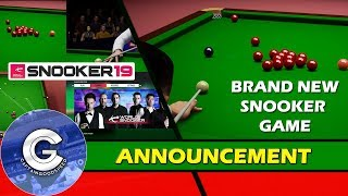 BRAND NEW SNOOKER GAME | Snooker 19 (PS4/XBOX ONE/Switch) | ANNOUNCEMENT/SCREENSHOTS OF SNOOKER 19