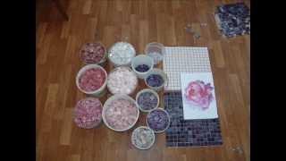 Оформление мозаикой. Пион. Рабочие моменты.(На данном видео представлен один из примеров оформления интерьера и бассейна мозаикой,мозаика,мозаичное..., 2013-04-22T09:20:11.000Z)