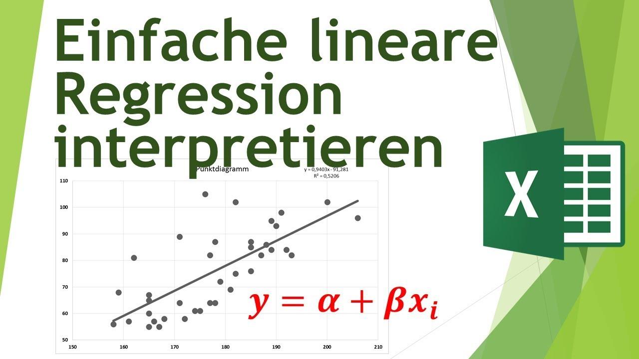 Einfache lineare Regression in Excel rechnen - Daten analysieren in ...