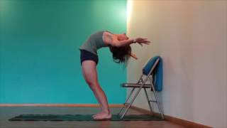 Yoga Tips with Christina Sell Yoga - Learn to Drop Back with the Help of a Chair