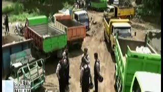 Razia tambang pasir ilegal, polisi sita belasan truk pengangkut pasir - BIM 11/01