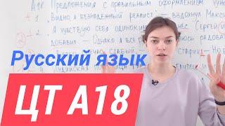 ЦТ А18. Прямая речь