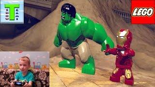 Lego Marvel Super Heroes прохождение игры Халк и Железный человек