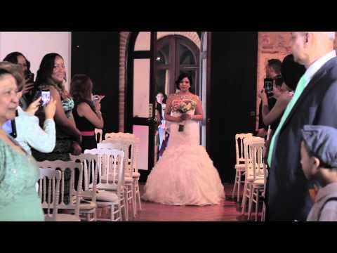 Bride Surprises Groom While Walking Down the Aisle