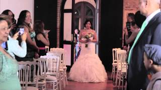 Bride Surprises Groom While Walking Down the Aisle