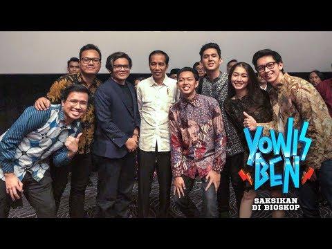 Presiden Jokowi Nonton Yowis Ben Di Malang - GERRR!