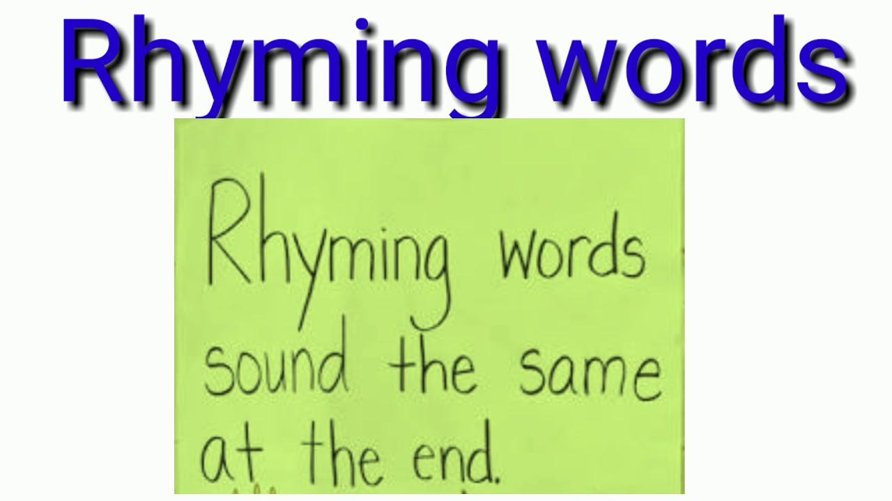 Rhyming words... - YouTube