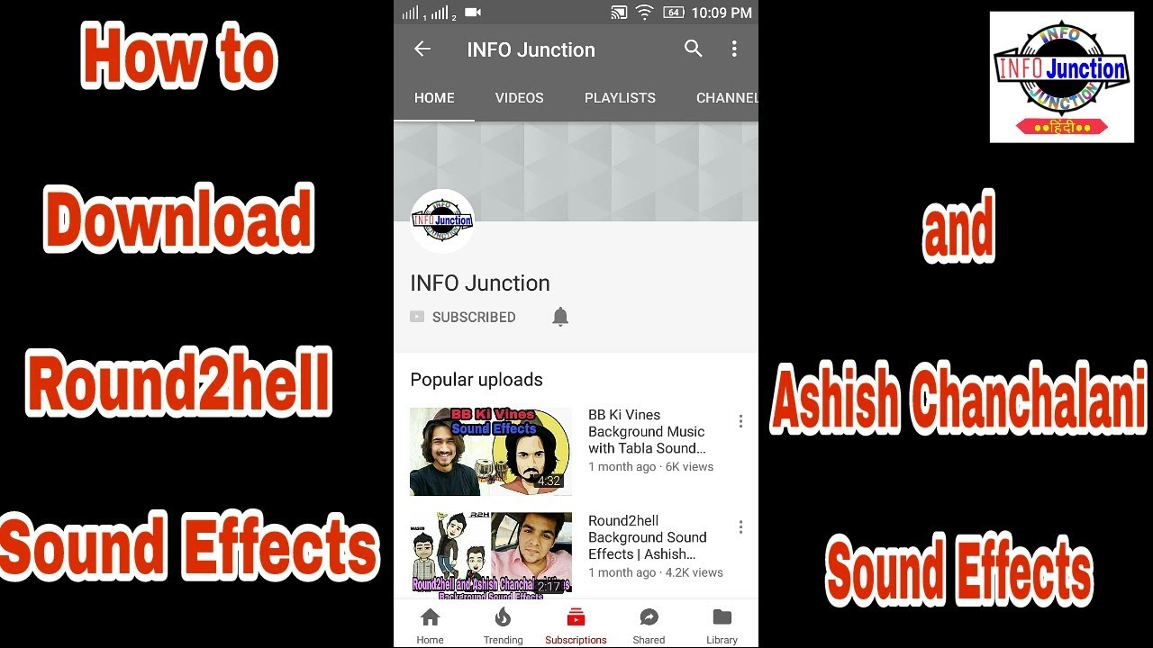 How to Download Round2hell Sound Effects | How to Download Ashish  Chanchalani Sound Effects