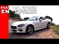Fiat 124 Spider At Costa Brava Spain
