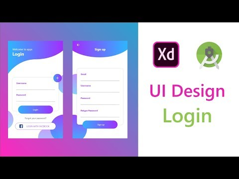 Login And Register UI/UX Design XD To Android Studio XML | Animation Transition