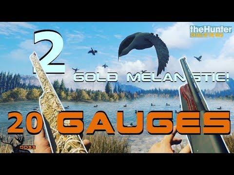 DUCK HUNTING With Both 20 GAUGES!!  Call Of The WILD THEHUNTER 2018