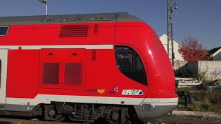 DB REGIO RB68 (15392) at Bensheim Auerbach, Germany, Oct/2018 ドイツ鉄道RB68ベンスハイム・アウアーバッハ駅