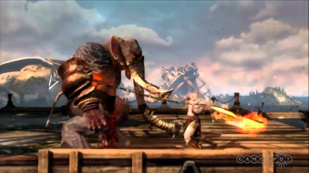 God Of War Gameplay Elephant Man-beast Bra...