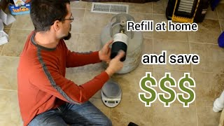 Refilling 1lb propane tanks with Mr. Heater refill adapter 1080p - How to, Success AND failures(, 2014-01-17T01:48:19.000Z)