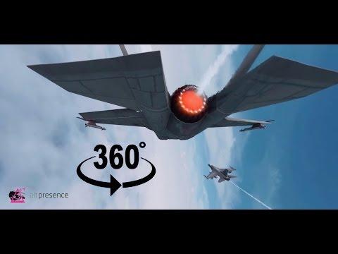 360 Video: Jet Flight Afterburner. (AltPresence Teaser) Above the clouds