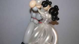 """Фигурки из воздушных шаров """"Жених и Невеста"""""""