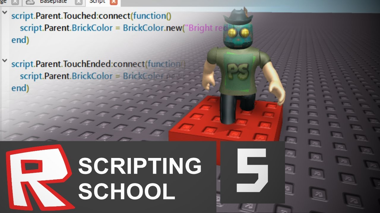 Roblox Scripting School 5 Easy Touched And Touchended