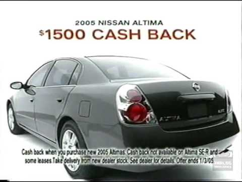 2005 Nissan National Year End Event Television Commercial 2005