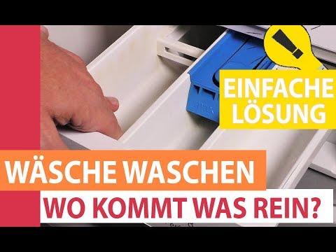 Wäsche Waschen - In Welches Fach Der Waschmaschine Kommt Was Rein? Waschmittel, Weichspüler Und Co