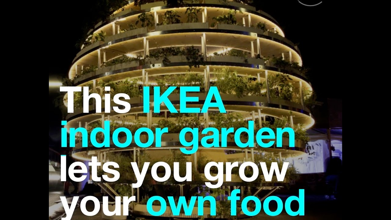 This IKEA indoor garden lets you grow your own food - YouTube