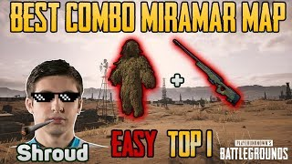 Ghillie Suit vs AWM in MIRAMAR MAP - Shroud win solo game FPP [TEST SERVER] - PUBG HIGHLIGHTS TOP 1